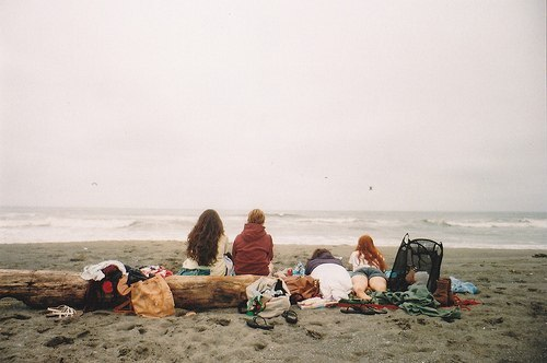adventure, bank, boy, clothes, free, freedom, friends, friendship, girl, hair, hippie, man, ocean, photography, sand, sea, trip, vintage, water, waves, woman