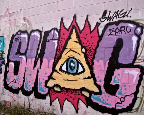 all seeing eye, graffiti, illuminati, swag - image #431397 ...