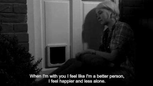 alone, beter, cute, happy, less, life, live, lonely, love, movie, naomily, person, quote, quotes, sad, skins