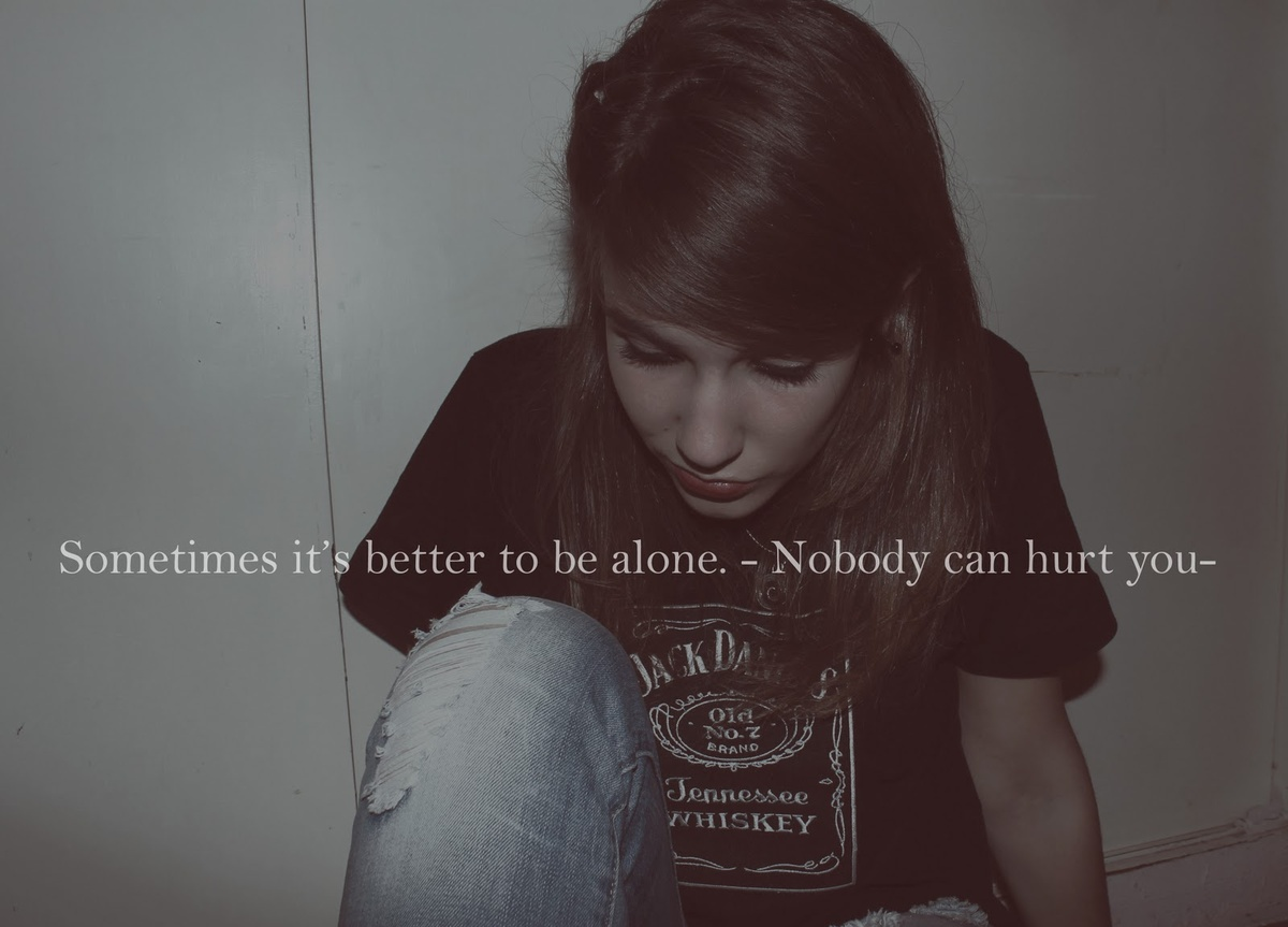 alone, girl, hurt, jack daniels, jeans