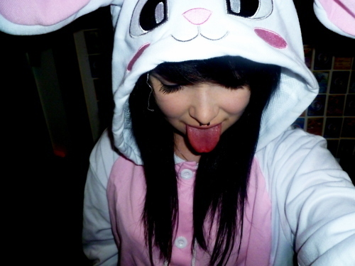 alternative, black, black hair, cute, dark hair, girl, gorgeous, hair, hairstyle, kawaii, piercing, septum, sweet