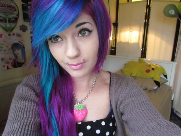 alternative, color, cute, girl, hair