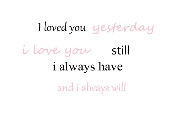 always, forever, i love you, odakonsine, quot