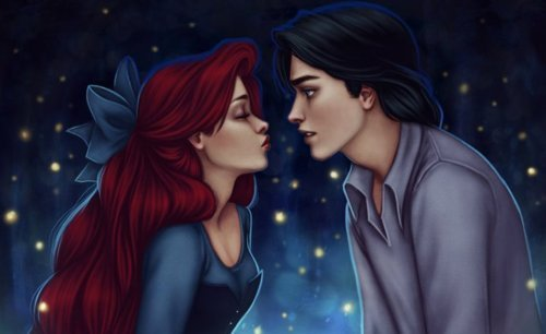 amazing, ariel, couple, cute, disney