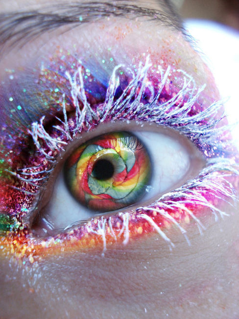 amazing, art, colorful, colour, extreme, eye, eyes, make up, photography, rainbow