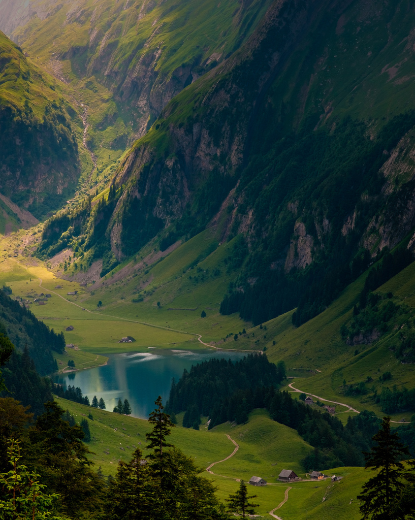 amazing, green, lake, landscape, mountains