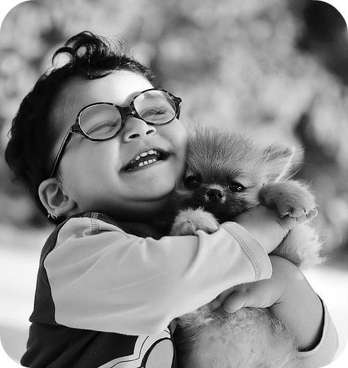 amor, animal, animals, black & white, child