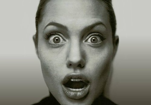 angelina, angelina jolie, beautiful, beauty, black and white, eyes, girl, model, mouth, photography