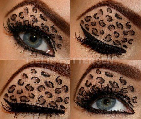 animal, beauty, eyeliner, eyes, girl, lashes, leopard, makeup, shadow
