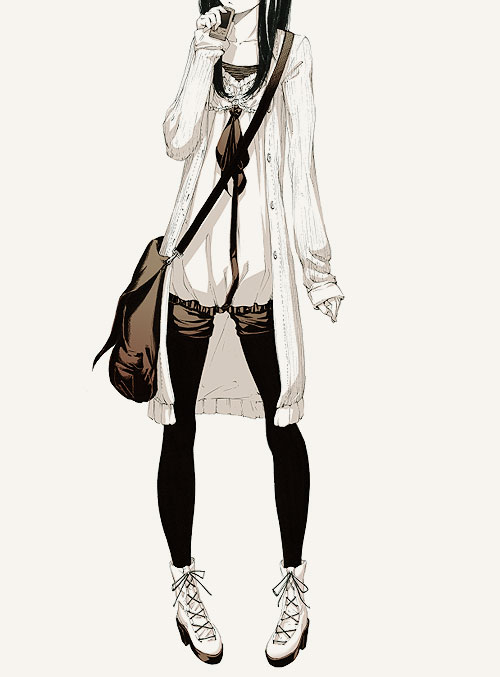 anime, art, drawing, fashion, girl