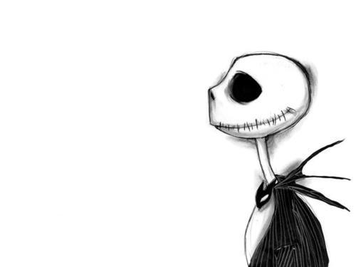 anime, black and white, jack, lucas berillo, nightmare before christmas
