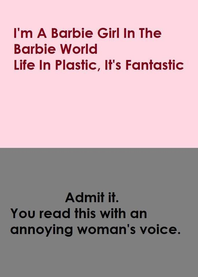 annoying, barbie, fantastic, girl, haha