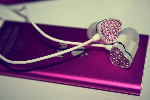 apple, heart, ipod, pink