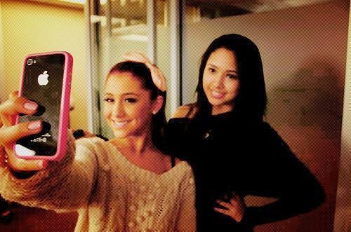 ariana grande, caitlin beadles, cute, disney, iphone