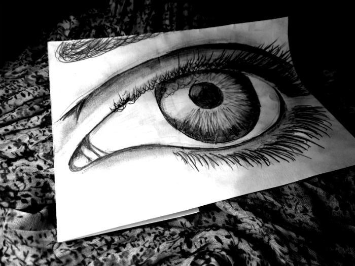 art, drawing, eye