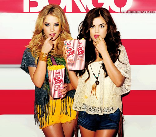 ashley benson, bongo, lucy hale, photoshoot