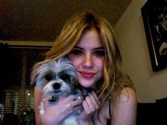 ashley benson, cute, dog, hanna marin, pll