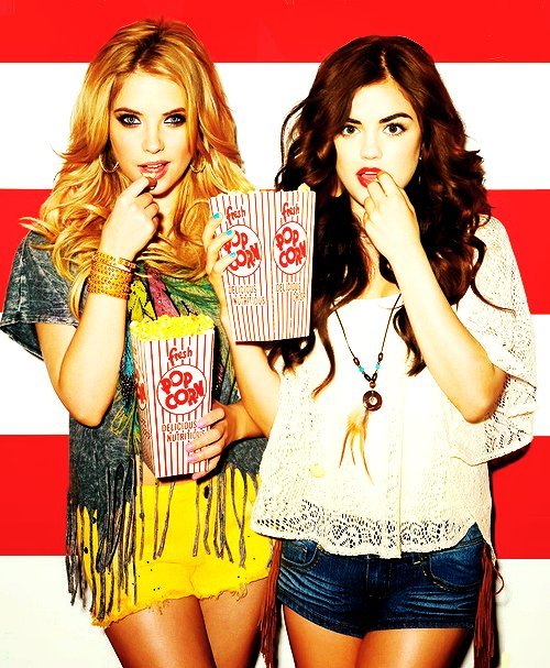 ashley benson, lucy hale, pll, pretty little liars