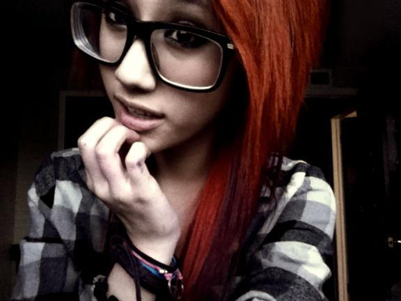 Apologise, but, Nerdy blonde teen emo girl