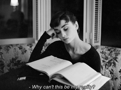 audrey hepburn, black & white, book, love, movie