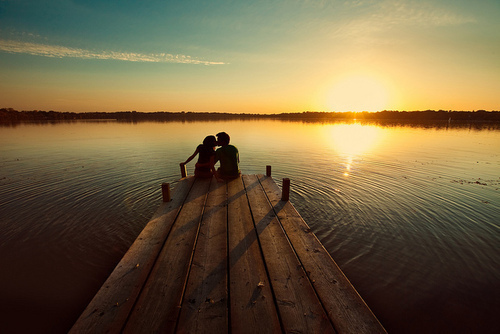 australia, couple, sunset