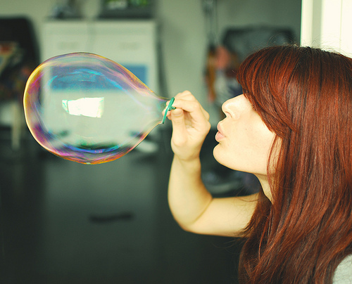 awesome, ballon, beautiful, bubbles, cool, cute, girl, hair, nice, pretty, red, red hair, wonderful