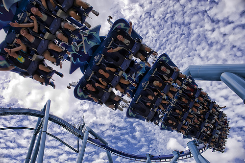 awesome, barbie, blue, colorful, cool, fun, happiness, live, park, photography, roller coaster, sky, slide
