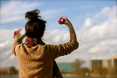 awesome, girl, hair, kite, photography