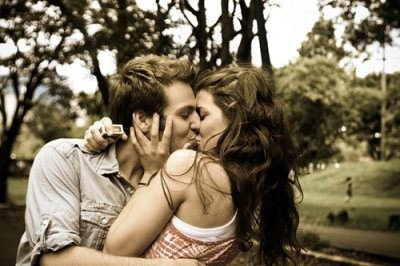 aww, couple, cute, kiss