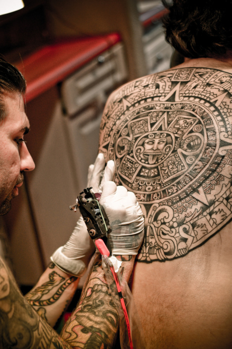 aztec, beautiful, mexica, tattoo