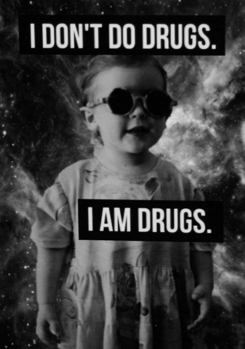 baby, black and white, cute, drugs, funny