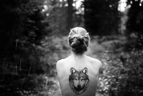 back, black&white, girl, photography, tatoo