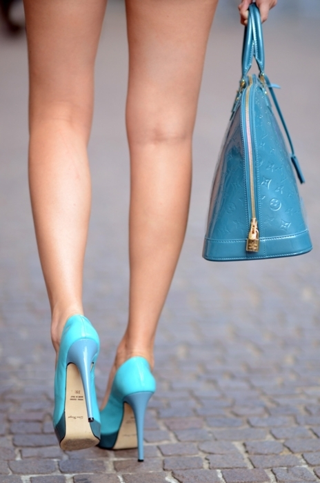 bag, blue, cute, fashion, heels