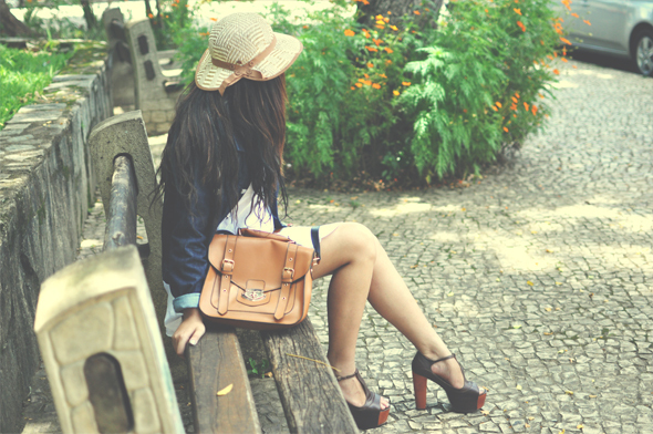 bag, bruna vieira, brunette, fashion, hair