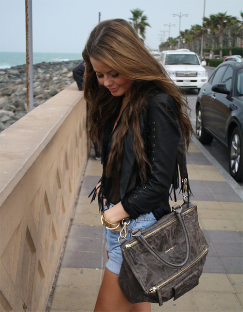 bag, brunette, cute, fashion, girl, hair, pretty, swag