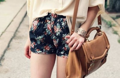 bag, fashion, flowers, girl, pretty