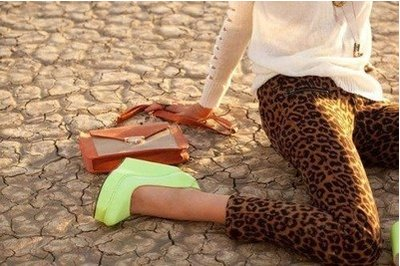 bag, fashion, girl, green, legs, leopard, outside, shoes, summer, sun, wedges