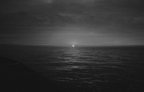 b&w, beach, beautiful, black & white, black and white, cloud, clouds, cute, landscape, moon, nature, sea, sky, water
