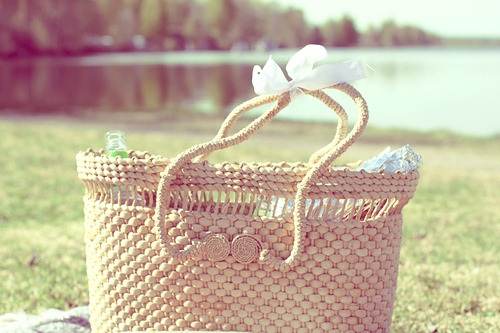 basket, cute, delicate, explore, forest, green, lovely, nature, vintage