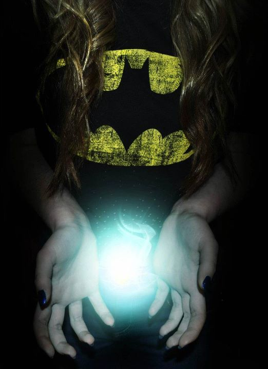 batman, black, black and white, blue, color, colour, cool, girl, hair, hands, indie, nails, photo, photography, photoshop, space, super hero, yellow