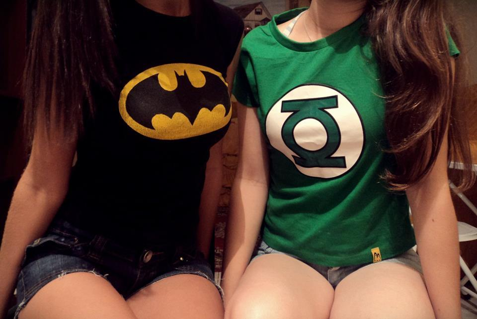 batman, blonde, brunette, cool, cute