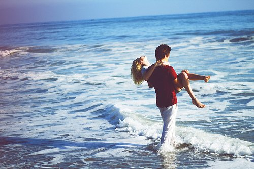 beach, beautiful, blonde, boy, carrying, couple, cute, firend, friends, girl, girly, hair, happiness, kiss, love, masculine, ocean, pretty, skinny, strong, summer, sun, sunset, thin, water, waves