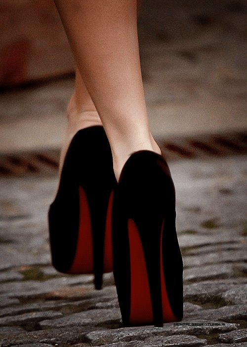beach, black, fashion, girl, heels, high fashion, high heels, louboutin, red, summer