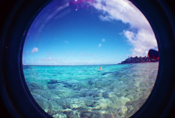 beach, fish eye, ocean, photography, summer