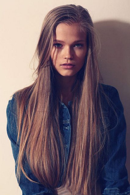 beautiful, beauty, clothes, denim, denim jacket, girl, hair, jean jacket, long hair, model, pretty, style, vintage