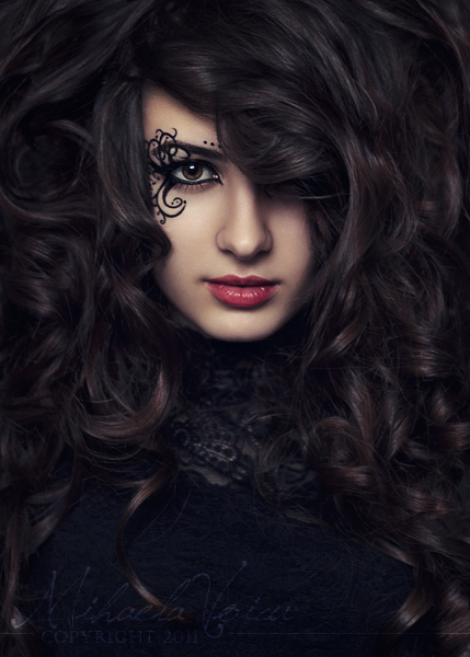 beautiful, beauty, dark, expressive, fashion, girl, hair, makeup, photography, portrait