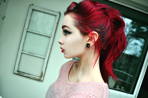 beautiful, beauty, girl, make-up, pale, red hair