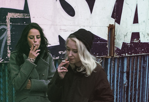 beautiful, black, blonde, cigarettes, cool