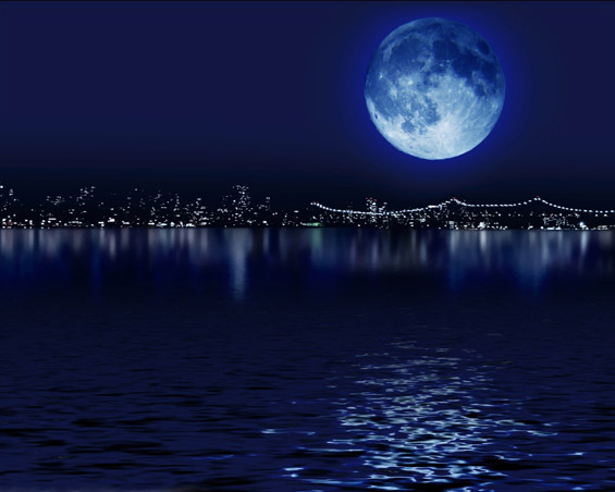 beautiful, blue, blue moon, lake, light