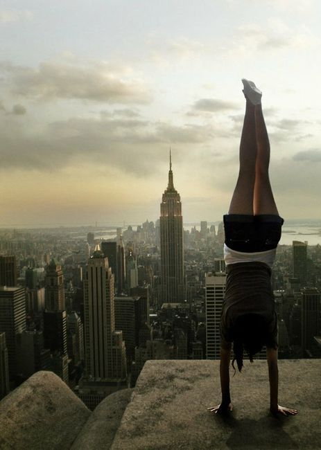 beautiful, brave, buildings, city, courage, cute, dangerous, girl, inspiring, new york, nyc, strength, strong, upside down, wonderful